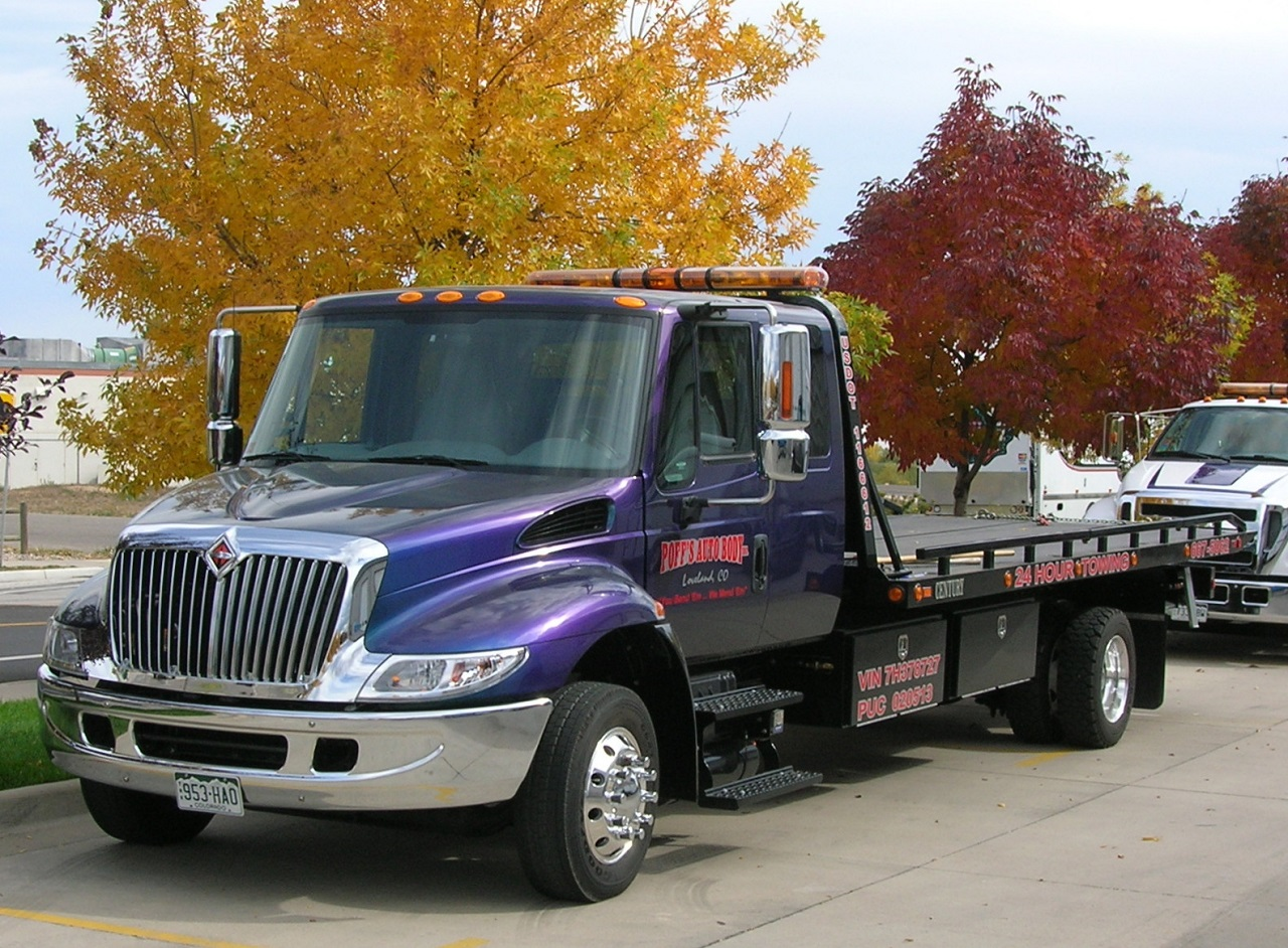 Flatbed Tow Truck Ready For Service